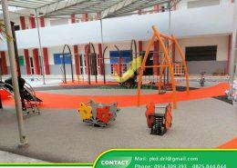 DREAM LIFE MT thi công sân chơi trẻ em Trường Mầm non Quốc tế Singapore, Bình Dương